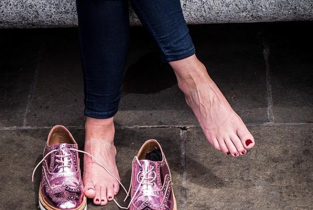 Lila Schuhe