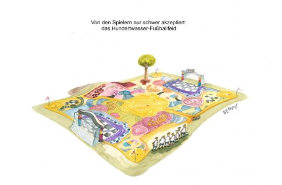 Hundertwasser-Fußballfeld