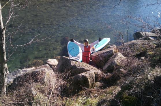 Stand up paddeln an der Ahr